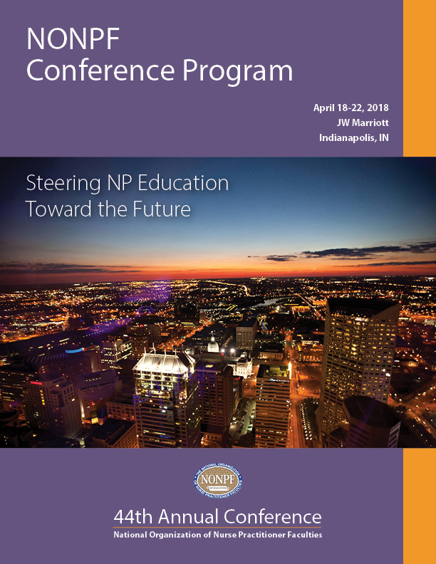 National Organization of Nurse Practitioner Faculties conference program cover 2018