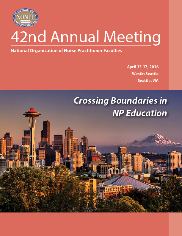 National Organization of Nurse Practitioner Faculties conference program cover