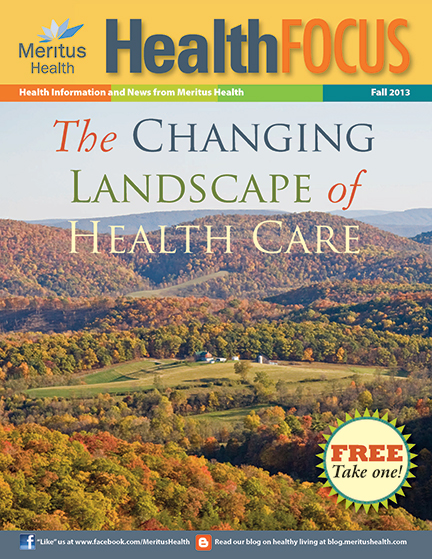 Meritus Health -Health Focus Magazine cover