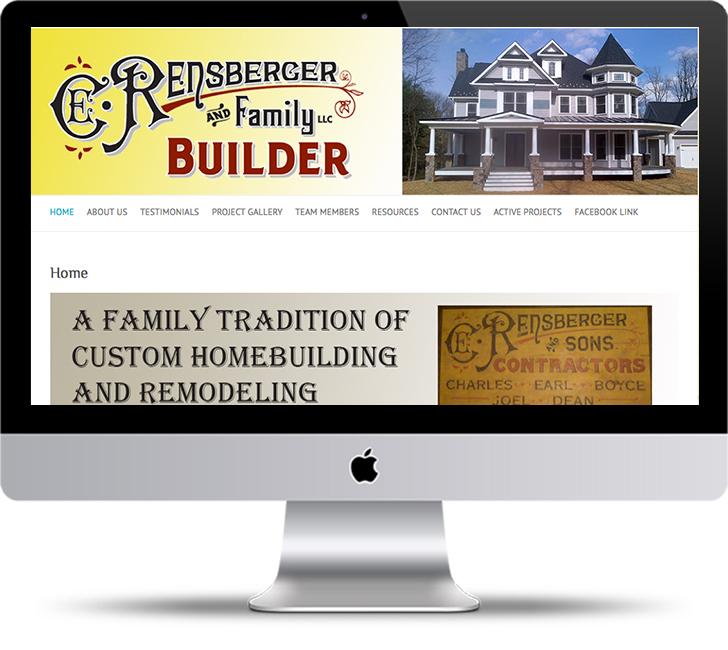 C.E. Rensberger and Family Builder website