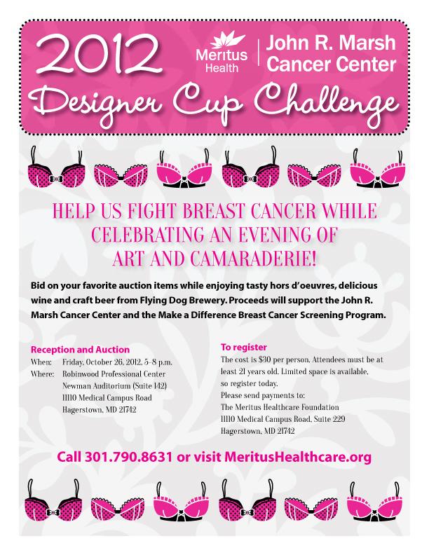 Meritus Health – Designer Cup Challenge poster