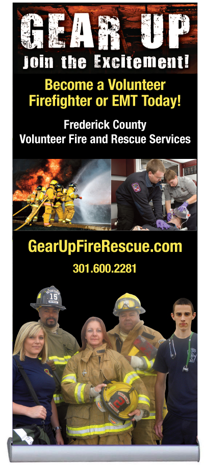 Frederick County Gear Up retractable banner