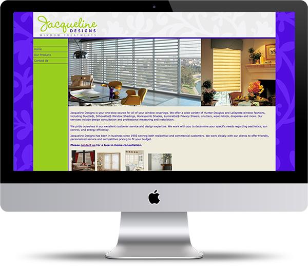 Jacqueline Designs website
