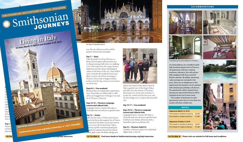 Smithsonian Journeys travel brochure