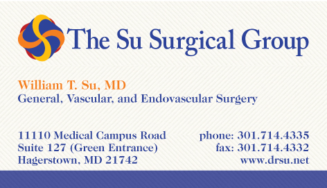 The Su Surgical Group logo and business card design