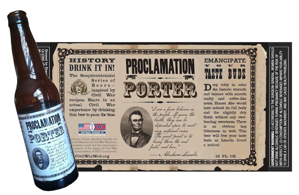 National Museum of Civil War Medicine - specialty beer label