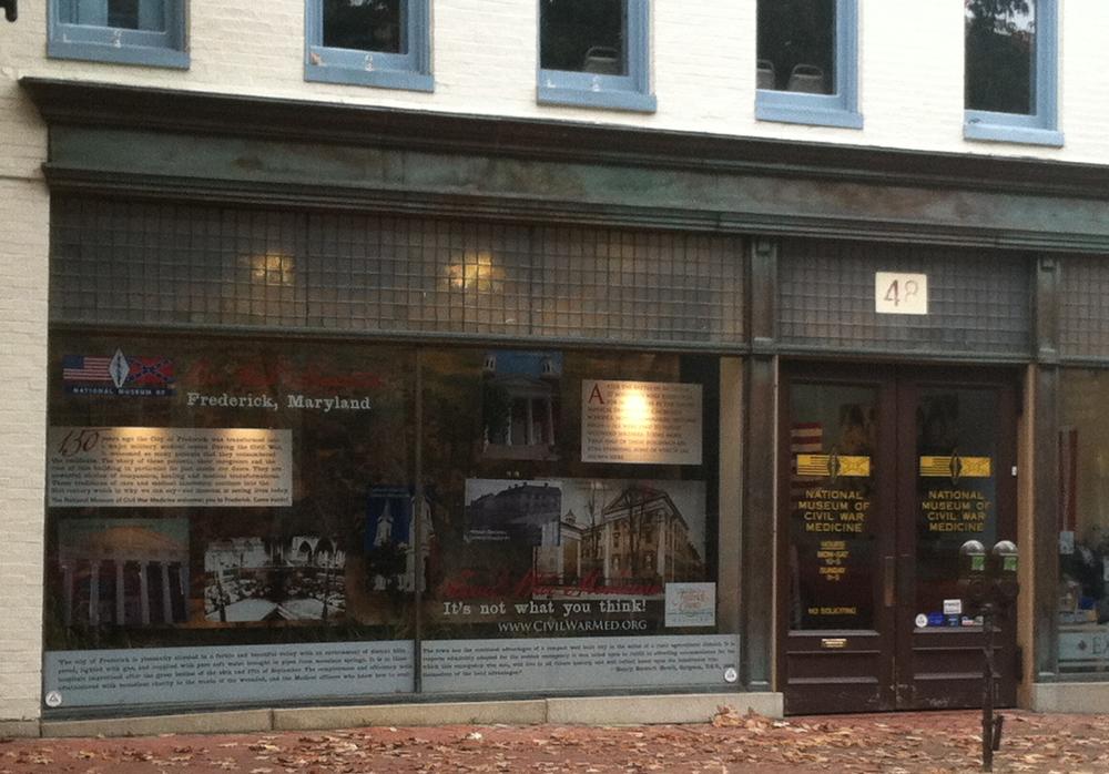 National Museum of Civil War Medicine - window exhibit
