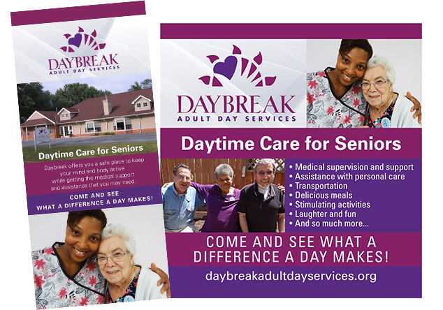 Daybreak brochure and table top display