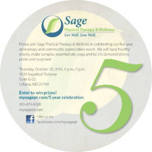 Sage 5 year anniversary invitation