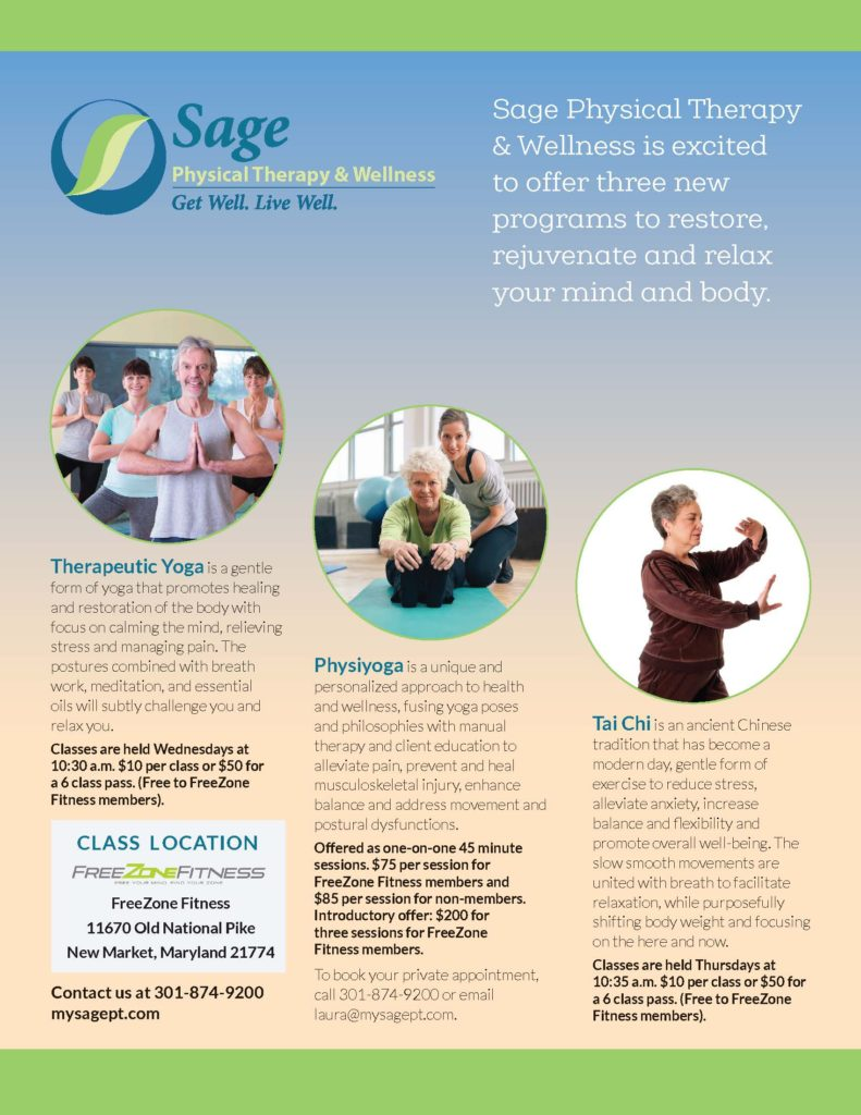 Sage yoga flyer