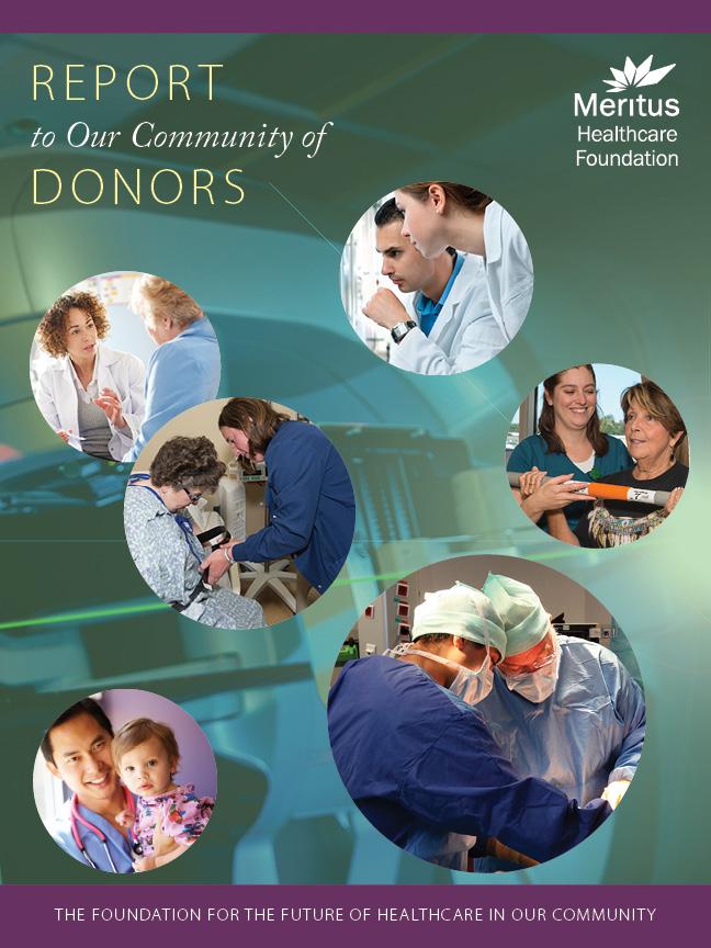 Meritus Healthcare Foundation annual report cover